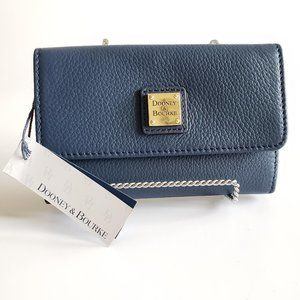 Dooney & Bourke Belvedere Flap Leather Wallet Blue